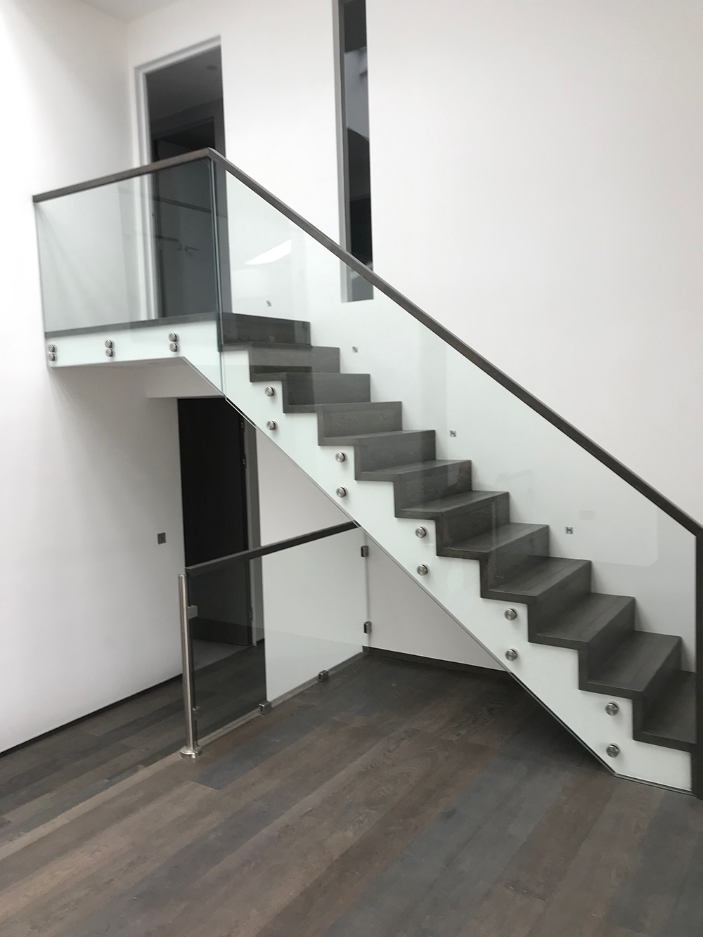 Modern Staircase With Glass Banister
