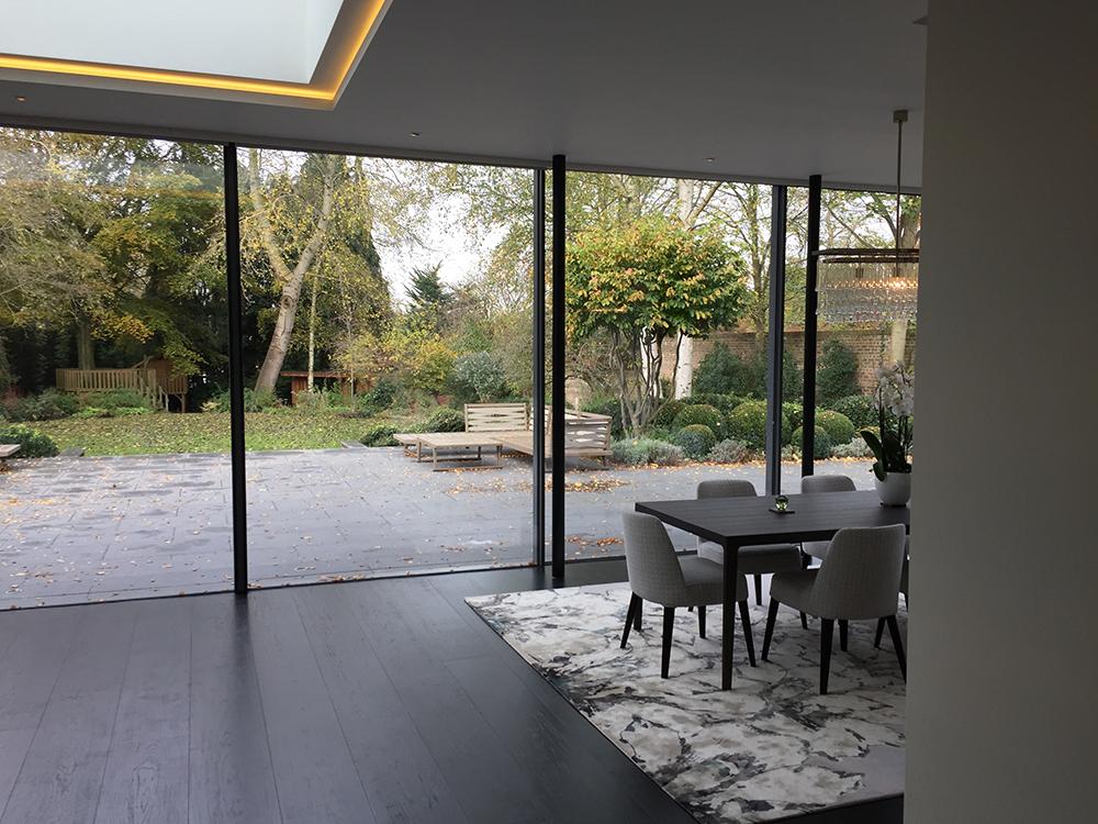 Kitchen With Large Bi-Fold Widows